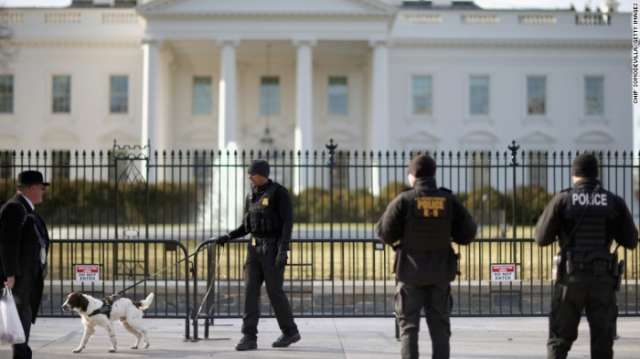 Man arrested near White House after alleged threat against 'all white police' there