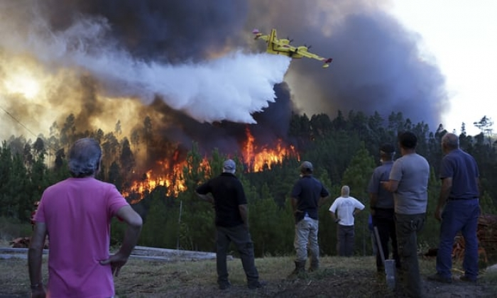 Wildfires trap 2,000 people in town in central Portugal