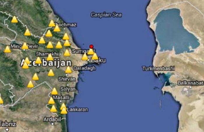 Quake jolts Caspian Sea