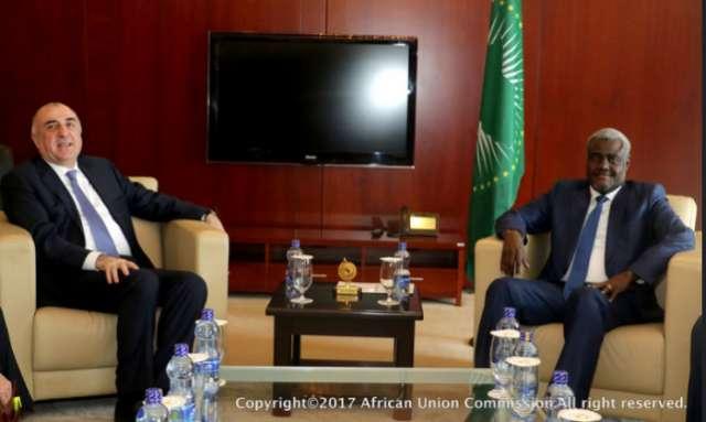 Məmmədyarov Afrika İttifaqı Komissiyasının sədri ilə görüşüb