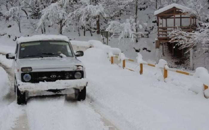 Qubanın Xınalıq və Qırız kəndlərinə qar yağıb