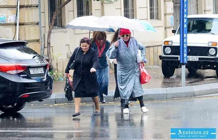 Martın 21-də yağış, qar yağacaq