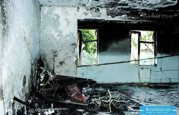 Qubada 8 otaqlı ev yanıb