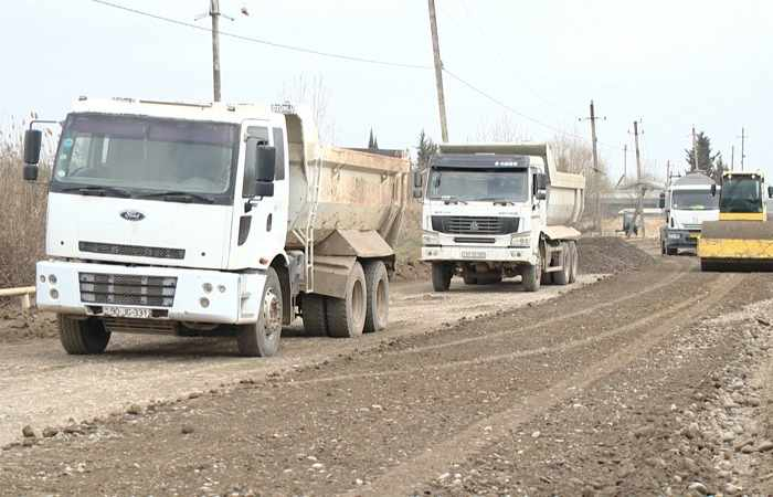 Sabirabadda 43 km-lik yolun təmiri başa çatır
