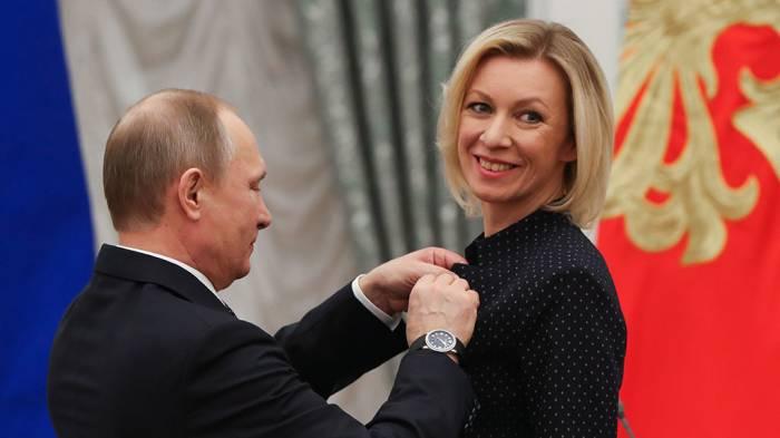 Putin Zaxarovaya diplomatik rütbə verdi