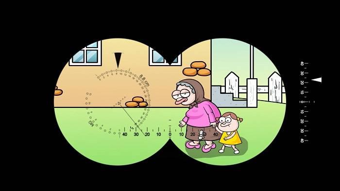 Se ha garabado un dibujo animado sobre la víctima de provocación Zahra