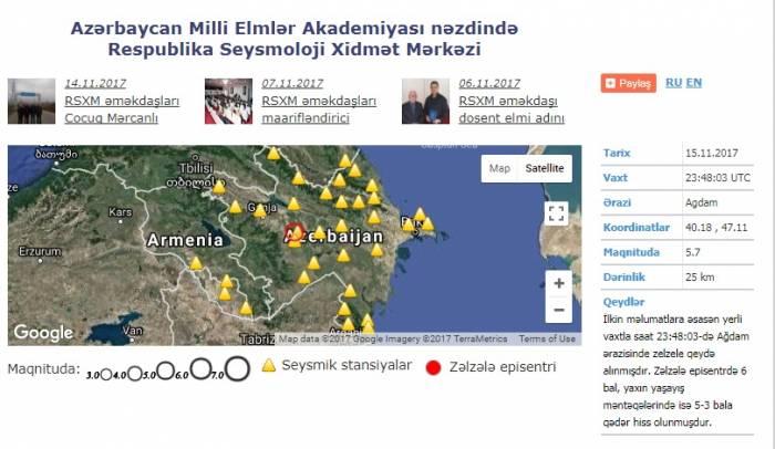 Azərbaycanda 6 bal gücündə zəlzələ olub - Rəsmi (Yenilənib)